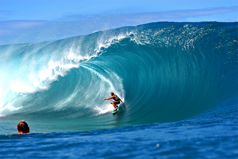 Laird Hamilton at Teahupoo (shot today and already available to the world :-) )